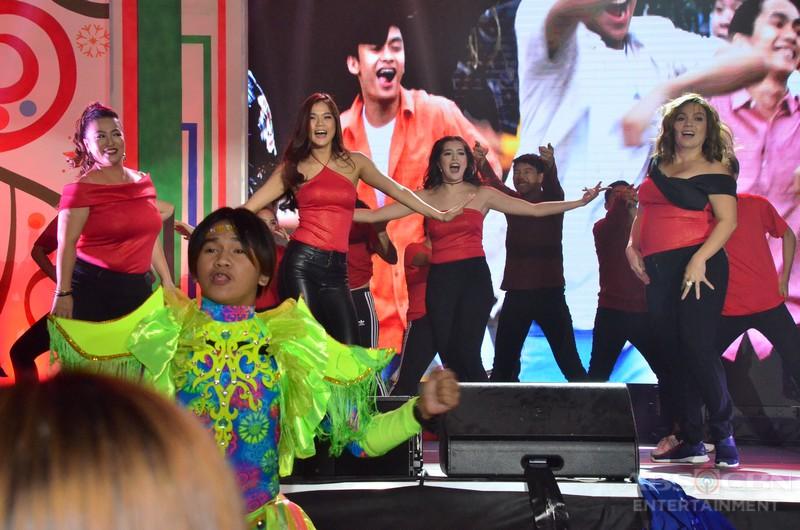PHOTOS: Hanggang Saan stars Sylvia Sanchez & Arjo Atayde perform at the .Just Love: The ABS-CBN Trade Event